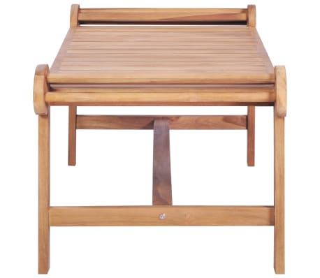 vidaXL Kavos staliukas 100x50x45 cm, tikmedžio med. masyv.[3/7]
