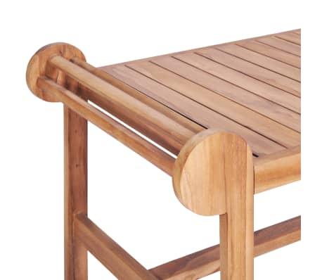 vidaXL Kavos staliukas 100x50x45 cm, tikmedžio med. masyv.[5/7]