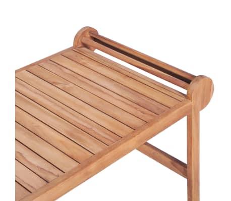 vidaXL Kavos staliukas 100x50x45 cm, tikmedžio med. masyv.[6/7]