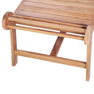 vidaXL Kavos staliukas 100x50x45 cm, tikmedžio med. masyv.[4/7]