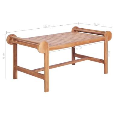 vidaXL Kavos staliukas 100x50x45 cm, tikmedžio med. masyv.[7/7]