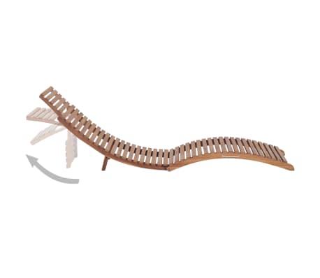 chaise longue en bois pliable