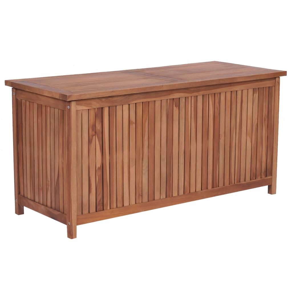 vidaXL Ladă de depozitare grădină, 120 x 50 x 58 cm, lemn masiv de tec imagine vidaxl.ro