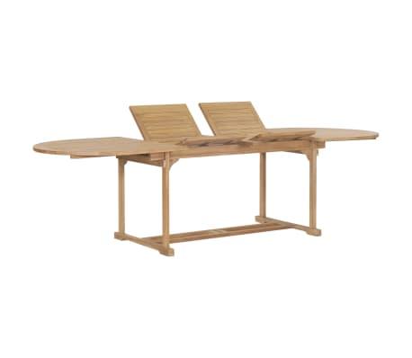 Tavolo Da Giardino Allungabile Usato.Vidaxl Legno Di Teak Tavolo Da Giardino Allungabile Ovale Arredo