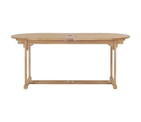 44679 Vidaxl Extendable Garden Table 180 280x100x75cm Solid Teak