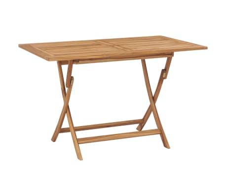 Table jardin de pliable 120x70x75 solide teck vidaXL Bois de cm tshQrdC
