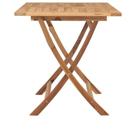 vidaXL Table à dîner pliable de jardin 120x70x75 cm Bois de teck