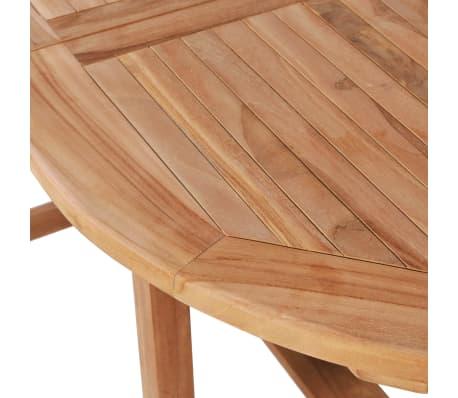 vidaXL Išskleidžiamas sodo stalas, (110-160)x80x75cm, tikmedžio med.[4/5]