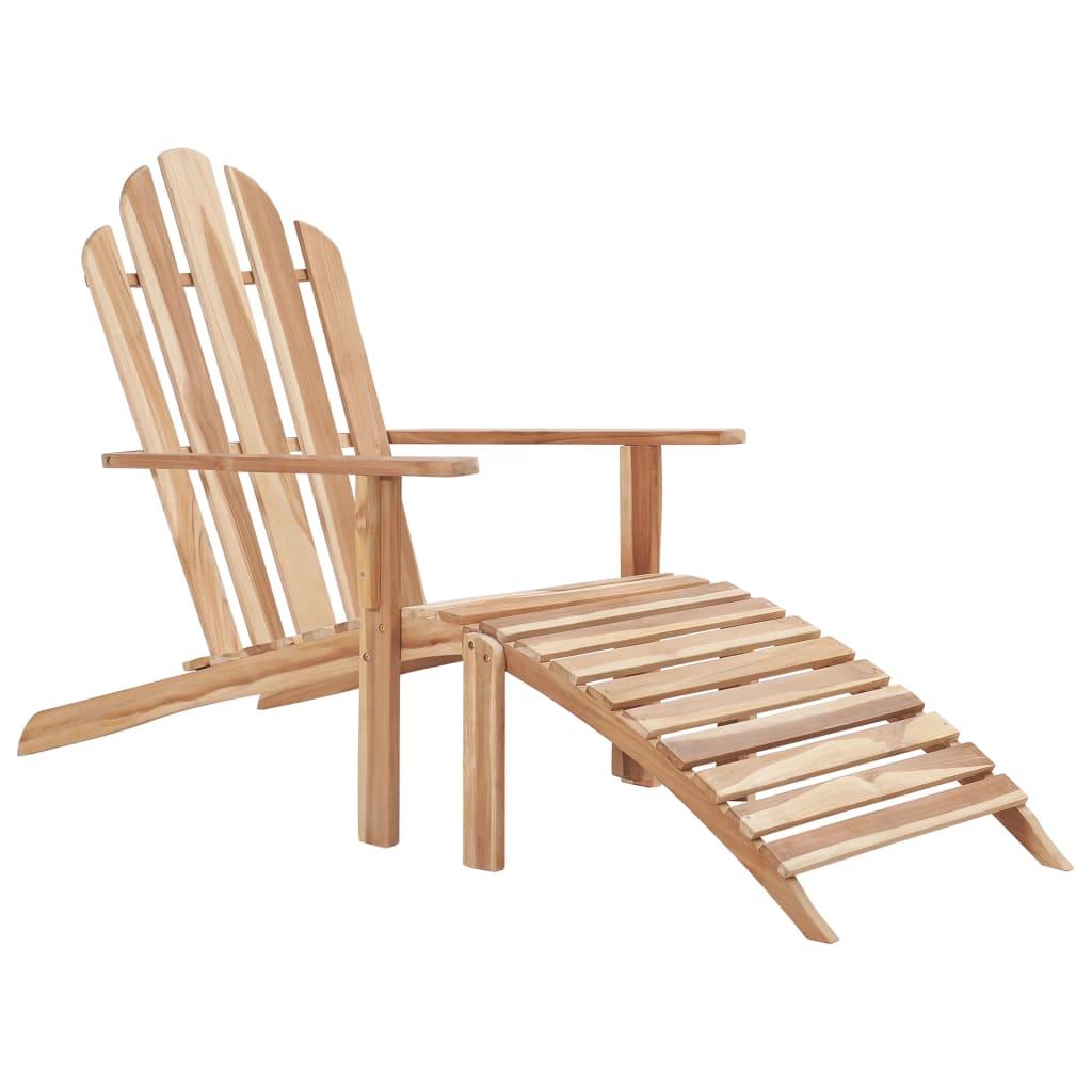 vidaXL Adirondack-Stuhl mit Fußstütze Teakholz