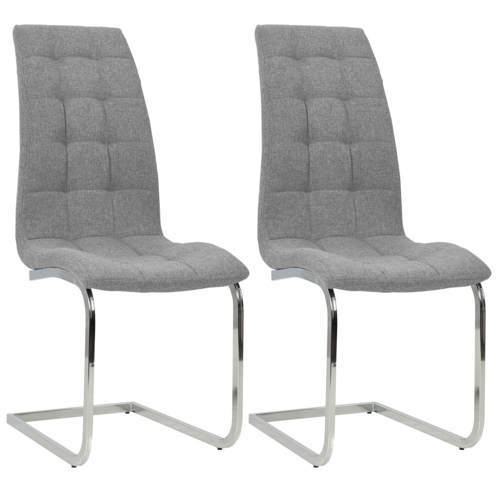vidaXL Καρέκλες Τραπεζαρίας 2 τεμ. Αν. Γκρι 42,5x61x104,5 εκ. Ύφασμα