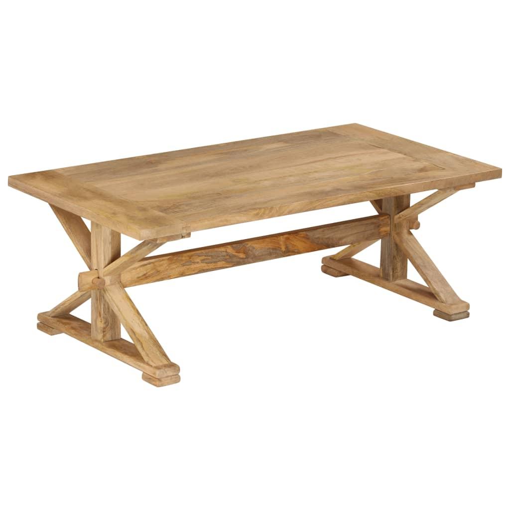 Tavolini Da Salotto In Legno Rustico.Dettagli Su Vidaxl Legno Massello Di Mango Tavolino Da Caffe Rustico Tavolo Basso Salotto