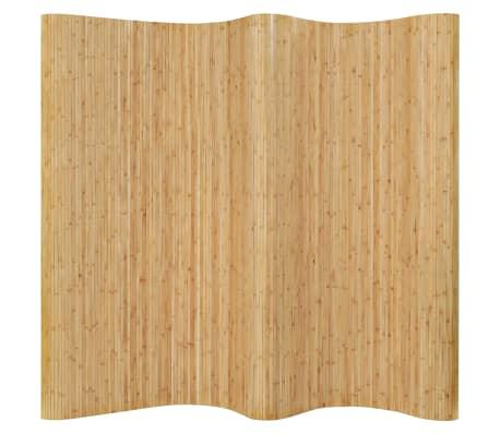 vidaXL Kambario pertvara, natūralios spalvos, 250x195cm, bambukas[1/4]