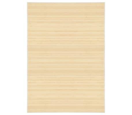 vidaXL Rug Bamboo 160x230 cm Natural