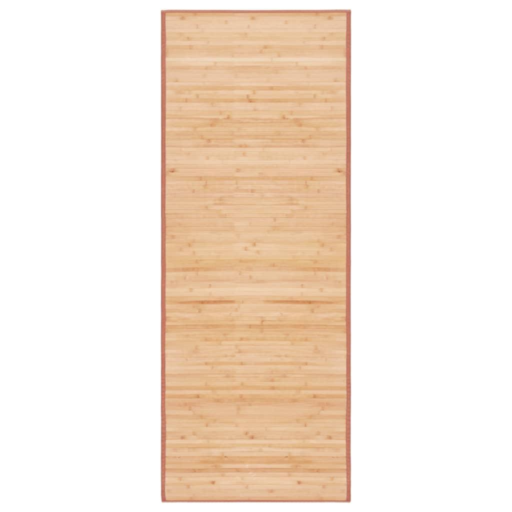 vidaXL Covor din bambus, maro, 80 x 200 cm poza 2021 vidaXL