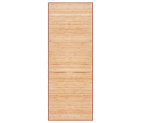 vidaXL Rug Bamboo 80x200 cm Brown