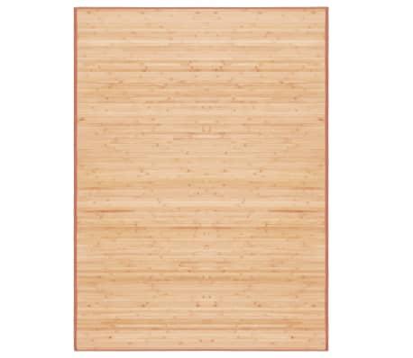 vidaXL Bambusový koberec 160x230 cm, hnedý[1/4]