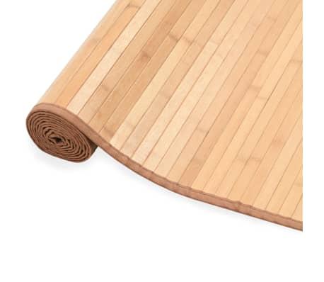 vidaXL Bambusový koberec 160x230 cm, hnedý[3/4]