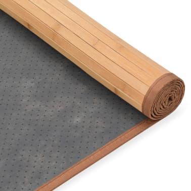 vidaXL Bambusový koberec 160x230 cm, hnedý[4/4]