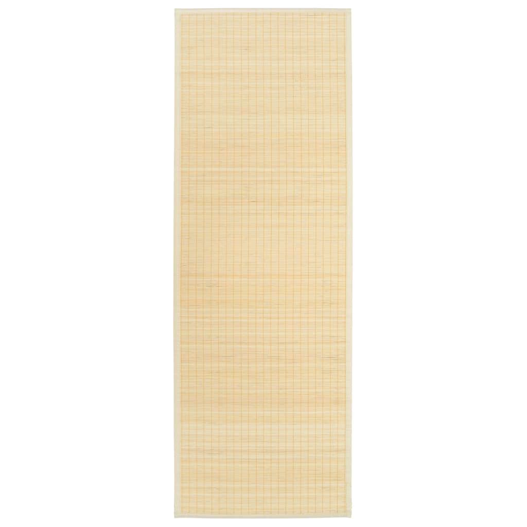 vidaXL Covoraș de yoga, bambus, culoare naturală, 60 x 180 cm imagine vidaxl.ro