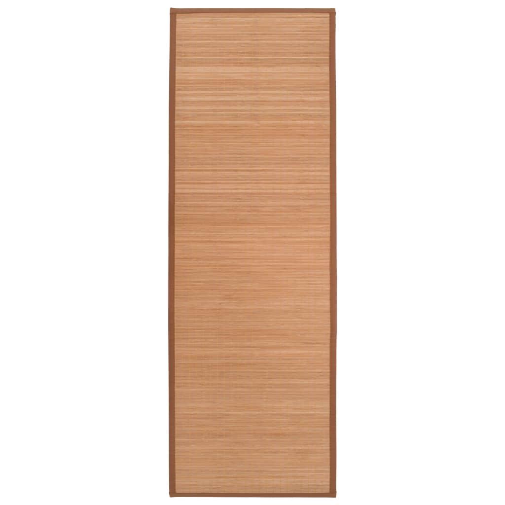 Podložka na jógu bambusová 60 x 180 cm hnědá