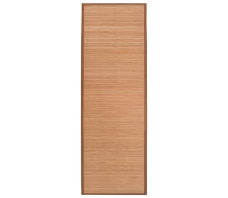 vidaXL Podložka na jógu bambusová 60 x 180 cm hnědá