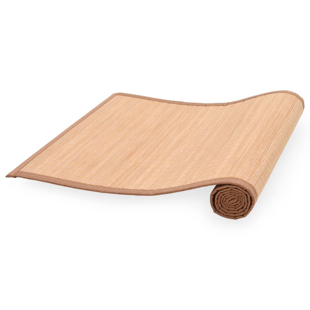 999247213 Yogamatte Bambus 60 x 180 cm Braun
