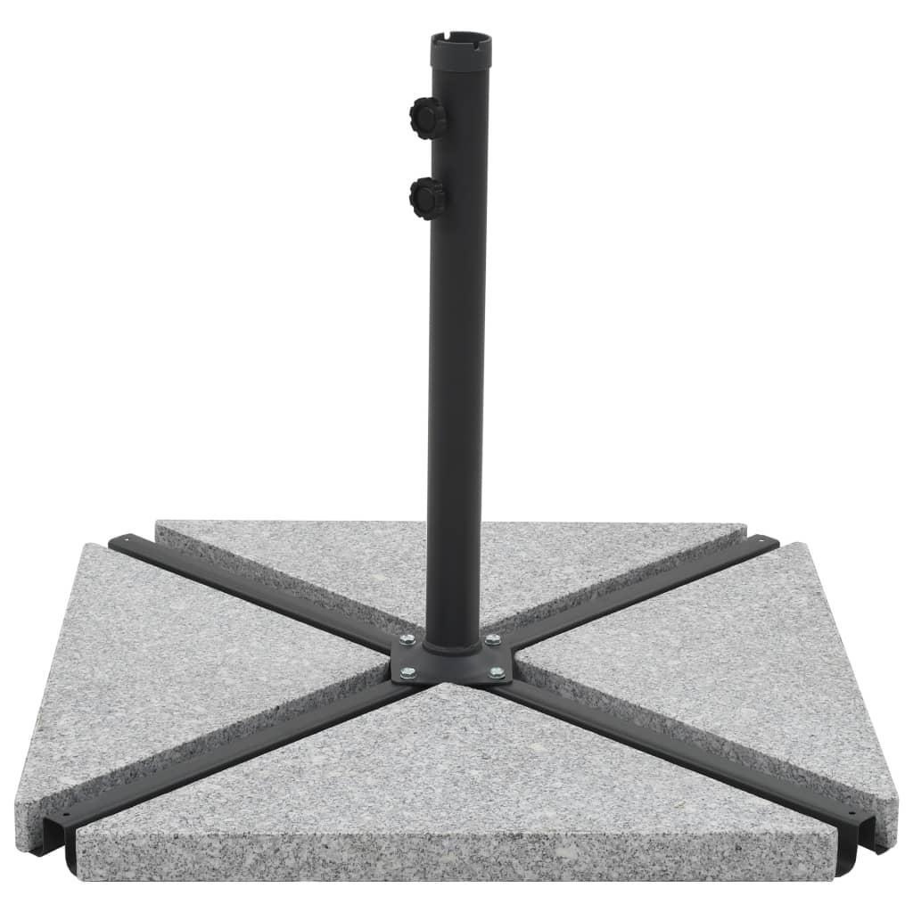 vidaXL Placă de greutate umbrelă, gri, 15 kg, granit, triunghiular imagine vidaxl.ro