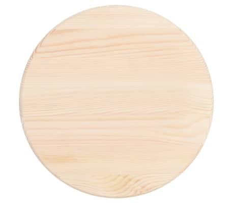 vidaXL Tafelblad rond 25 mm 30 cm natuurlijk grenenhout[2/4]