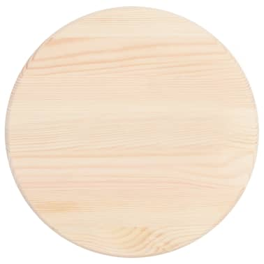 vidaXL Table Top Natural Pinewood Round 25 mm 30 cm[2/4]