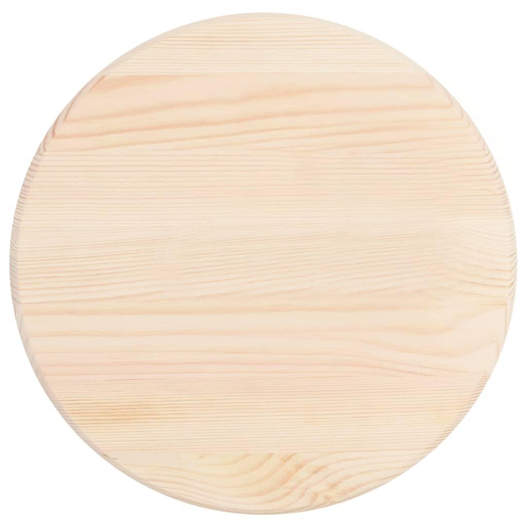 vidaXL Blat de masă, natural, 25 mm, 40 cm, lemn de pin, rotund poza vidaxl.ro