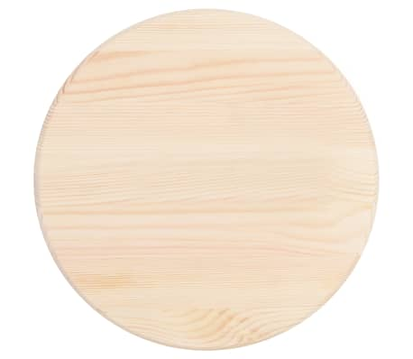 vidaXL Stalviršis, natūrali pušies mediena, apvalus, 25 mm, 40 cm