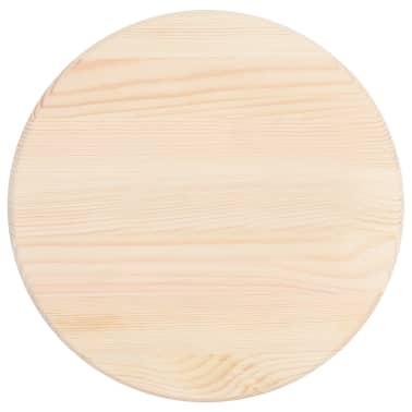 vidaXL Stalviršis, natūrali pušies mediena, apvalus, 25 mm, 40 cm[1/4]