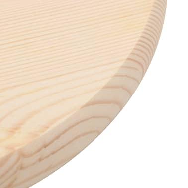 vidaXL Stalviršis, natūrali pušies mediena, apvalus, 25 mm, 40 cm[3/4]