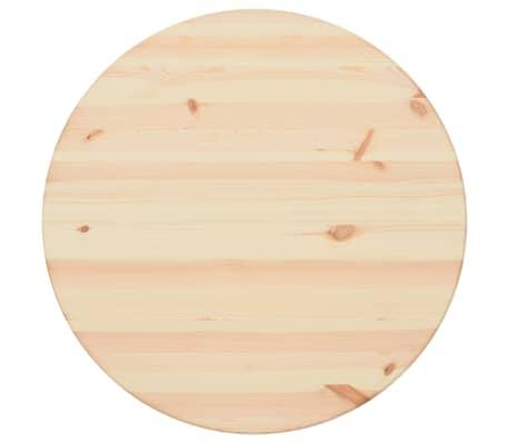vidaXL Stalviršis, natūrali pušies mediena, apvalus, 25 mm, 60 cm[1/4]