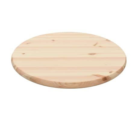 vidaXL Stalviršis, natūrali pušies mediena, apvalus, 25 mm, 60 cm[2/4]