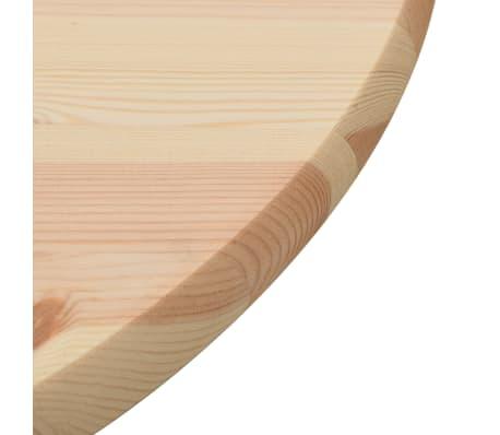 vidaXL Stalviršis, natūrali pušies mediena, apvalus, 28 mm, 60 cm[3/4]