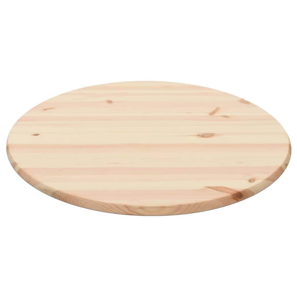vidaXL Blat de masă, natural, 25 mm, 80 cm, lemn de pin, rotund poza vidaxl.ro