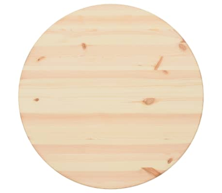 vidaXL Površina za mizo naravna borovina okrogla 25 mm 80 cm[1/4]