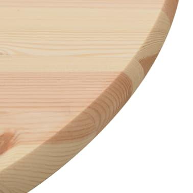 vidaXL Površina za mizo naravna borovina okrogla 25 mm 80 cm[3/4]