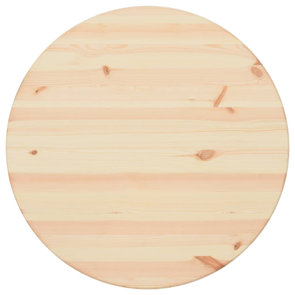 vidaXL Blat de masă, natural, 25 mm, 90 cm, lemn de pin, rotund poza vidaxl.ro
