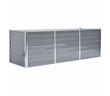 vidaXL Vrtna sadilica od pocinčanog čelika 240 x 80 x 77 cm siva[1/7]