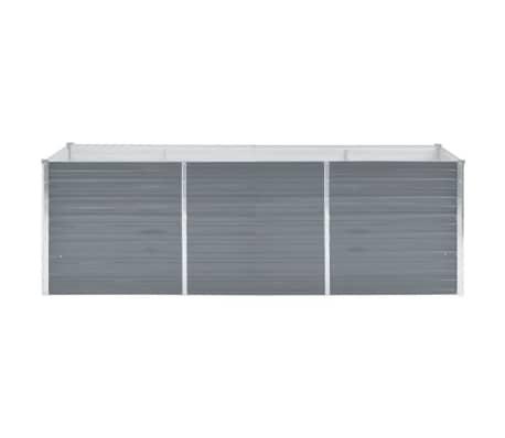 vidaXL Odlingslåda galvaniserat stål 240x80x77 cm grå[2/7]