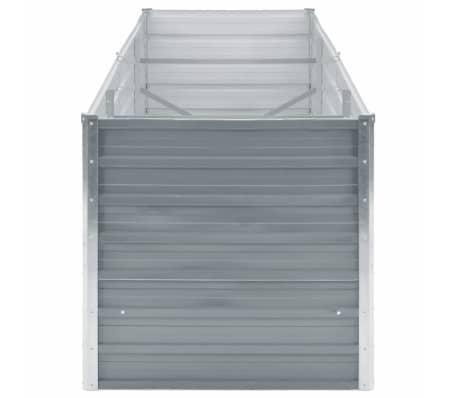 vidaXL Odlingslåda galvaniserat stål 240x80x77 cm grå[3/7]