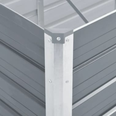 vidaXL Odlingslåda galvaniserat stål 240x80x77 cm grå[5/7]
