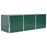 """vidaXL Garden Planter Galvanized Steel 94.5""""x31.5""""x31.3"""" Green"""