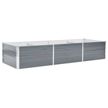 vidaXL Jardinera de jardín de acero galvanizado 240x80x45 cm gris[1/7]