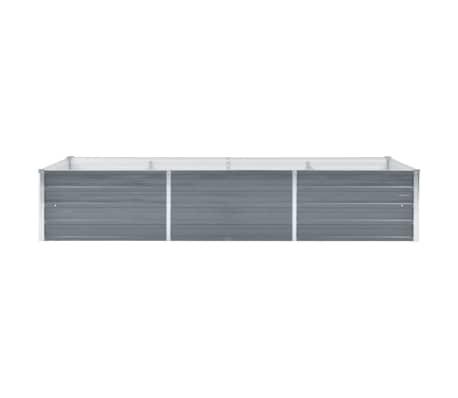 vidaXL Jardinera de jardín de acero galvanizado 240x80x45 cm gris[2/7]