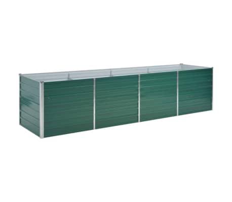 vidaXL taimelava, tsingitud teras, 320 x 80 x 77 cm, roheline