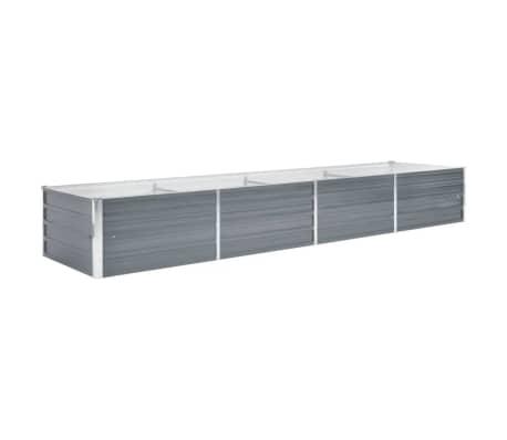 vidaXL Strat înălțat de grădină, gri, 320 x 80 x 45 cm oțel galvanizat