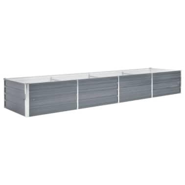vidaXL Garden Planter Galvanised Steel 320x80x45cm Grey[1/7]